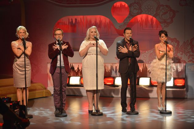 Claire with her Steps bandmates back in