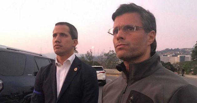 Guaidó convoca a los militares y al pueblo tras liberar de su arresto a Leopoldo