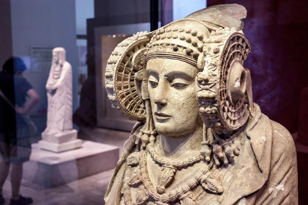 'Dama de Elche', en el Museo Arqueológico