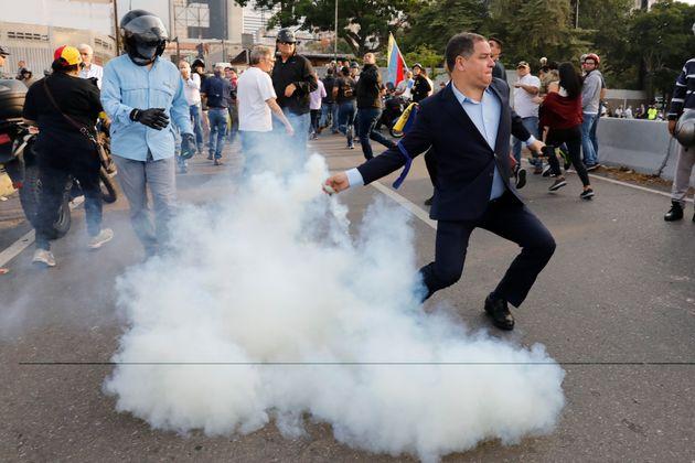 Manifestações na Venezuela estavam previstas para o dia 1º de maio, mas convocatória...