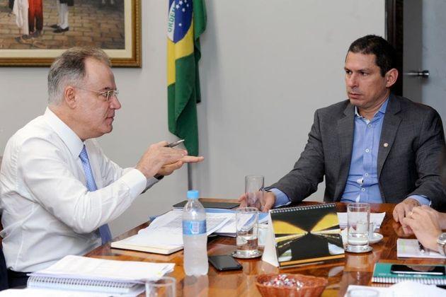 O presidente da comissão e o relator da reforma da Previdência se reuniram para fechar o...