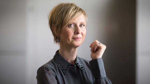 Actress Cynthia Nixon from the film 'A Quiet Passion', poses for portrait photographs at at the 2016 Berlinale Film Festival in Berlin, Sunday Feb. 14, 2016.  (AP Photo/Axel Schmidt)