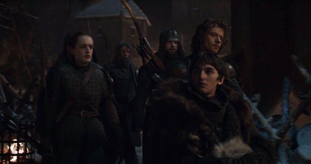 Bran looking at Tyrion in Season 8, Episode