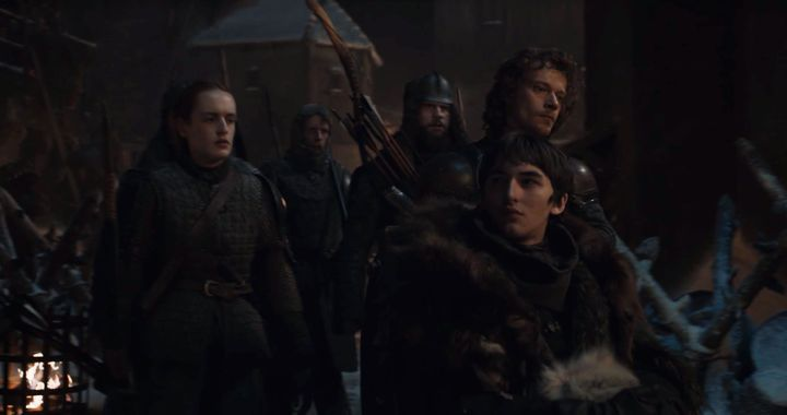Bran looking at Tyrion in Season 8, Episode 3.