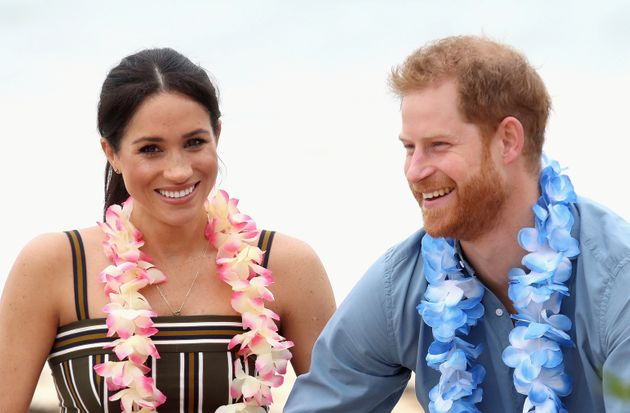 The Duke and Duchess of Sussex at South Bondi Beach on Oct. 19, 2018, in