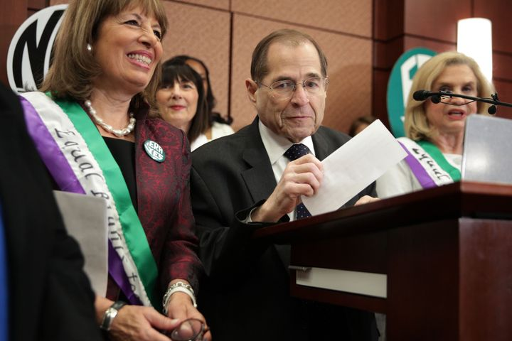 Reps. Jackie Speier (D-Calif.), Jerry Nadler (D-N.Y.) and Carolyn Maloney (D-N.Y.) are seen at an ERA press conference.