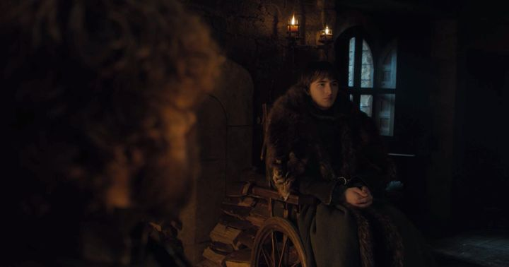 Tyrion talks with Bran in Season 8, Episode 2.