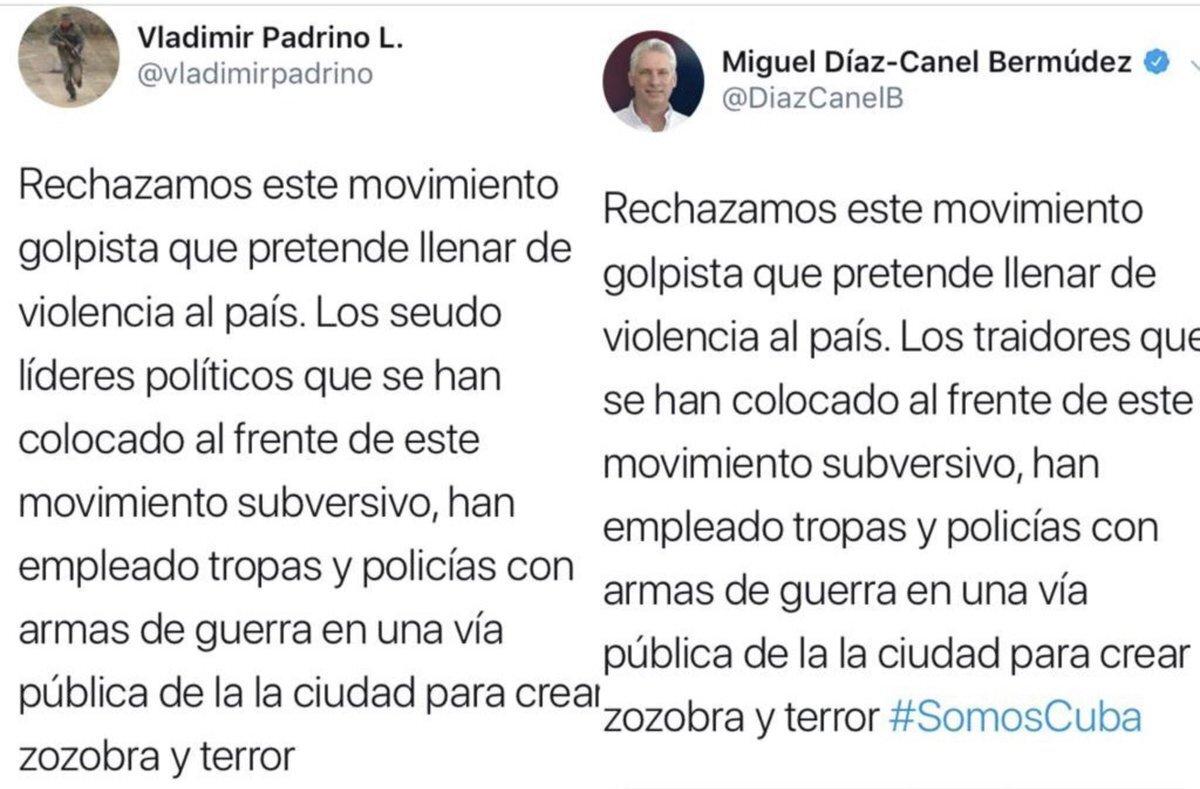 Marco Rubio denuncia las similitudes del mensaje del ministro de Defensa venezolano y el presidente de Cuba sobre el