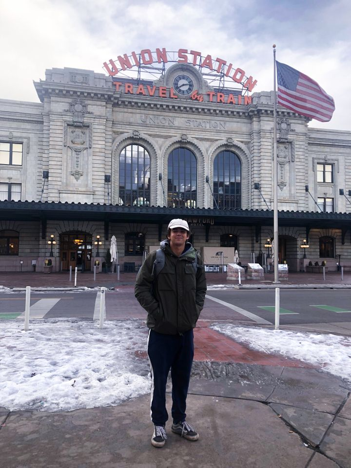 AJ at Denver Union Station.