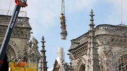 Les statues qui ont échappé à l'incendie de Notre-Dame présentées au