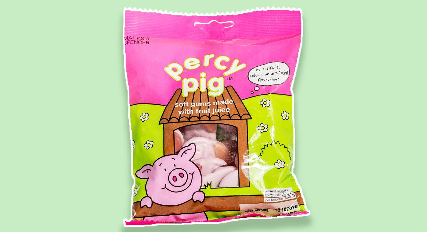 The new vegetarian Percy Pigs are now gelatine-free. [Photo: Marks & Spencer]