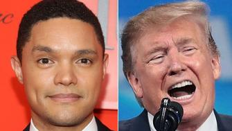 Trevor Noah and Donald Trump