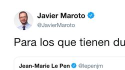 El primer tuit de Maroto tras la debacle del PP se le ha vuelto muy en