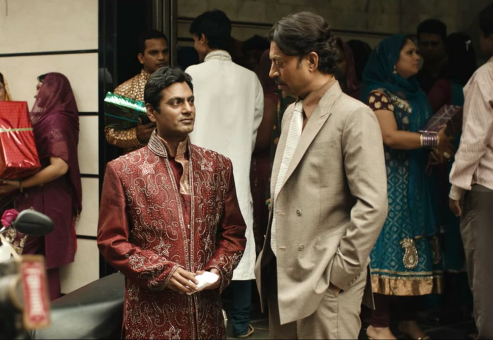 Nawazuddin Siddiqui and Irrfan in a still from 'The Lunchbox'.