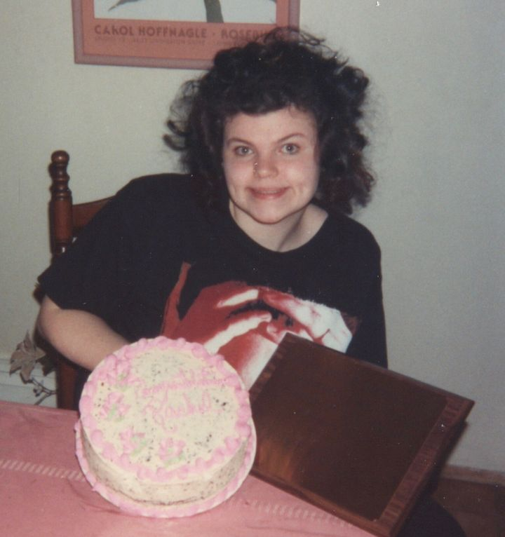 After Barry recovered from the measles, she returned to normal early '90s high school life: big hair, concert T-shirt, nose r