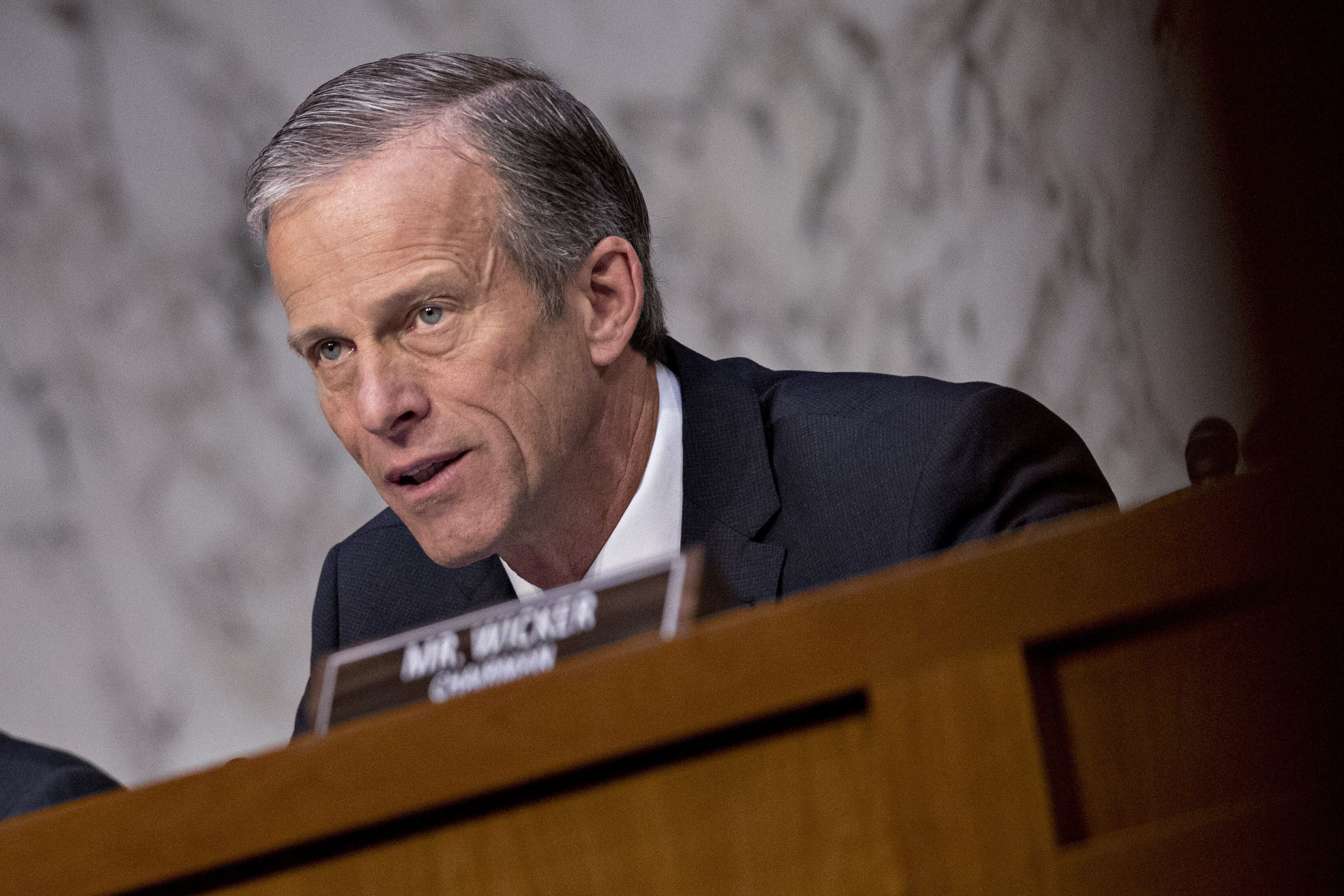 Senator John Thune, a Republican from South Dakota, questions witnesses during a Senate Commerce, Science and Transportation Subcommittee hearing in Washington, D.C., U.S., on Wednesday, March 27, 2019. U.S. aviation regulators were directly involved in the review and approval of the anti-stall system on Boeing Co.s grounded 737 Max aircraft that has been involved in two fatal crashes, the chief of the Federal Aviation Administration said during the hearing. Photographer: Andrew Harrer/Bloomberg via Getty Images
