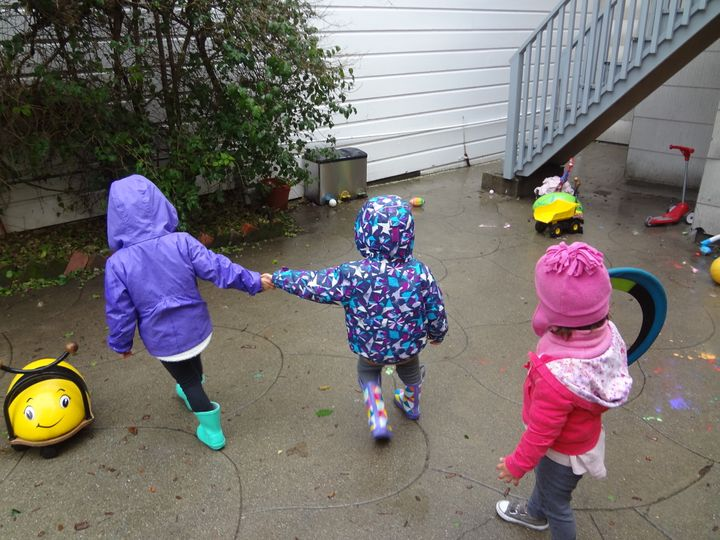 Children playing at Rachele Long's home-based child care in San Francisco.