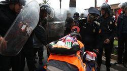 La police disperse un sit-in des membre de la