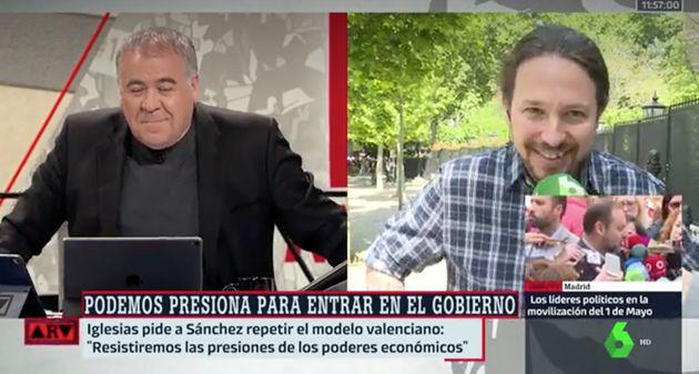 El 'dardo' en directo de Pablo Iglesias a Ferreras en 'Al Rojo