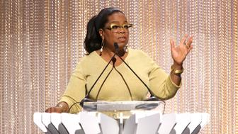 LOS ANGELES, CA - APRIL 30:  Oprah Winfrey speaks onstage during The Hollywood Reporter's Empowerment In Entertainment Event 2019 at Milk Studios on April 30, 2019 in Los Angeles, California.  (Photo by Jesse Grant/Getty Images for THR)