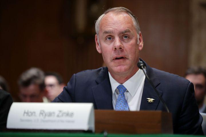 Former Interior Secretary Ryan Zinke.