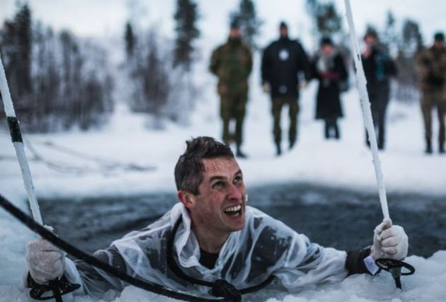Williamson took part in cold weather training with troops in