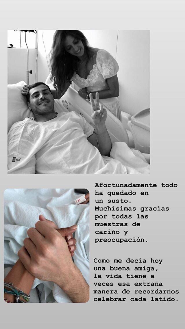 El mensaje de Sara Carbonero en Instagram tras el infarto de