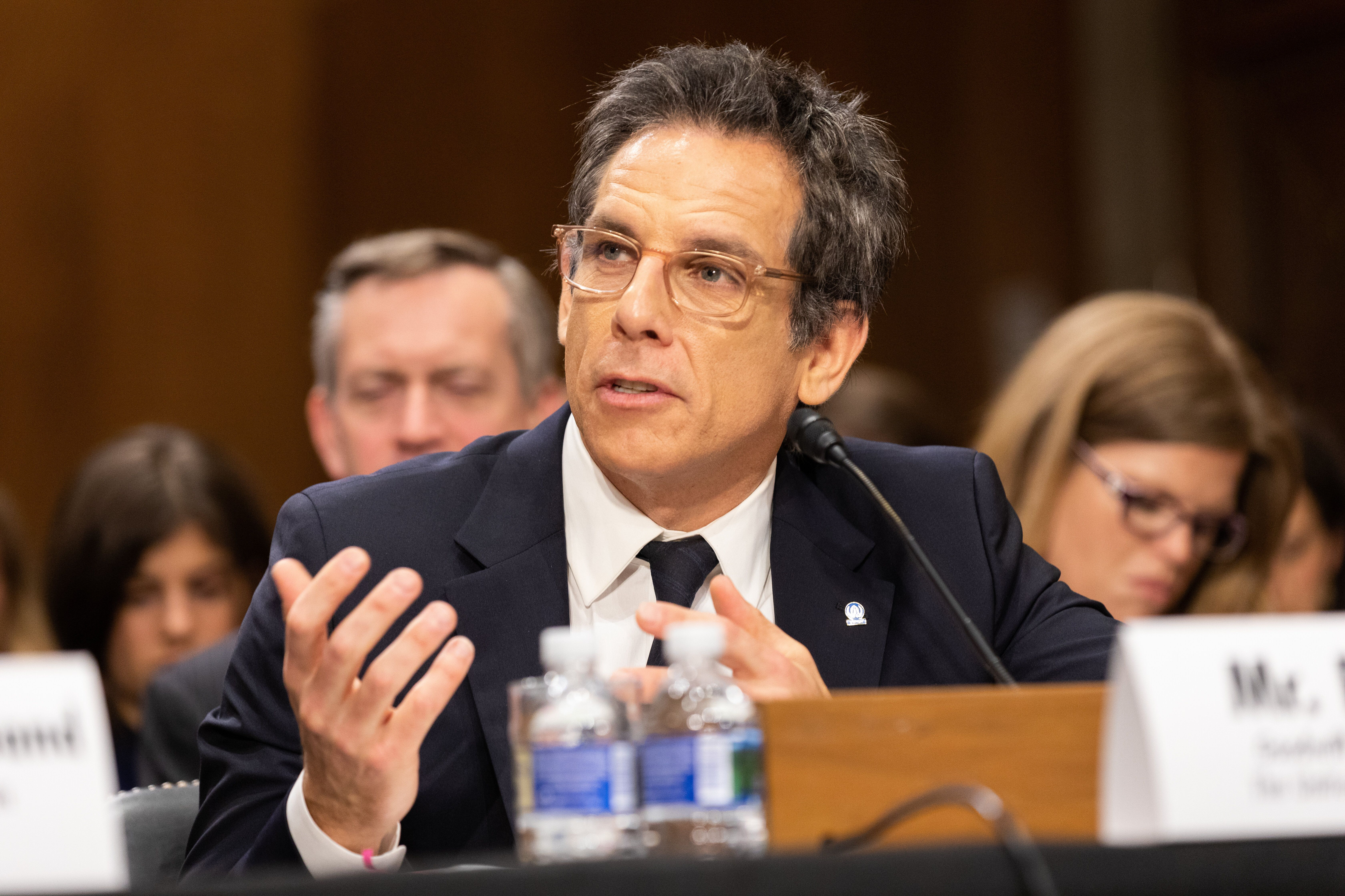 Actor Ben Stiller, Good Will Ambassador for the UN High Commission for Refugees, testified before the Senate Foreign Relations Committee on Wednesday morning about the humanitarian crisis in Syria. May 1, 2019, Washington, D.C.  (Photo by Aurora Samperio/NurPhoto via Getty Images)