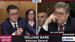 Colbert Hilariously Crashes Barr Testimony To Ask His Own Burning