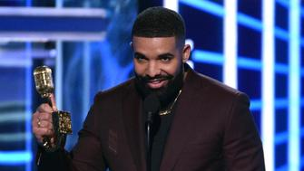 Drake accepts the award for top artist at the Billboard Music Awards on Wednesday, May 1, 2019, at the MGM Grand Garden Arena in Las Vegas. (Photo by Chris Pizzello/Invision/AP)