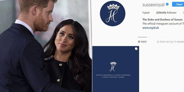 Il profilo Instagram ufficiale di Meghan e Harry è online: