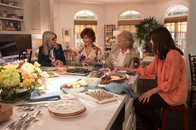 (L-R) Diane Keaton, Jane Fonda, Candice Bergen, Mary Steenburgen in the film, BOOK CLUB, by Paramount
