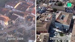 L'Aquila, 10 anni dopo il terremoto: com'era e com'è la città vista