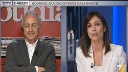 Travaglio e Carfagna litigano su Berlusconi.