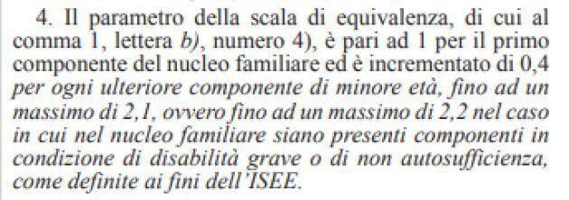 L'articolo 2 comma 4 del testo pubblicato sulla Gazzetta ufficiale del 29