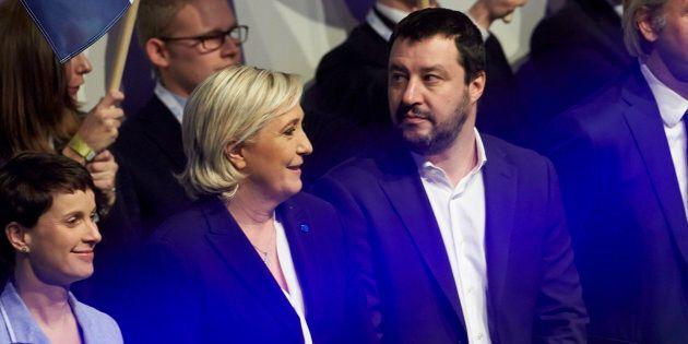 Salvini incontra Le Pen: