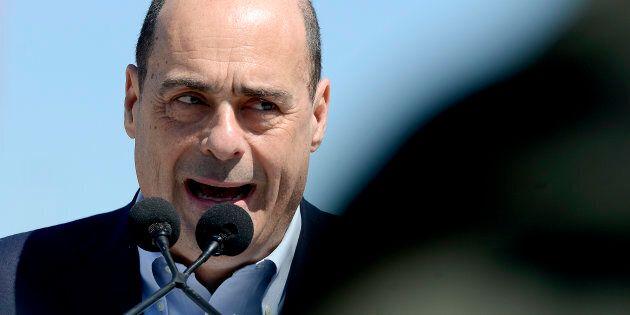 ROME, ITALY - MARCH 30: Democratic Party Secretary Nicola Zingaretti presents the symbol for the European...