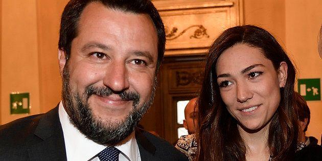 Salvini e la compagna Francesca Verdini mano nella mano alla