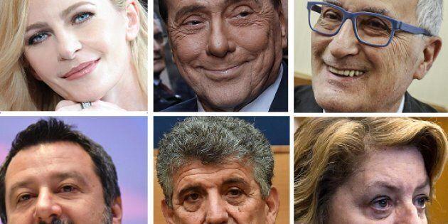 Luisella Costamagna, Silvio Berlusconi, Franco Roberti, Matteo Salvini, Pietro Bartolo, Caterina