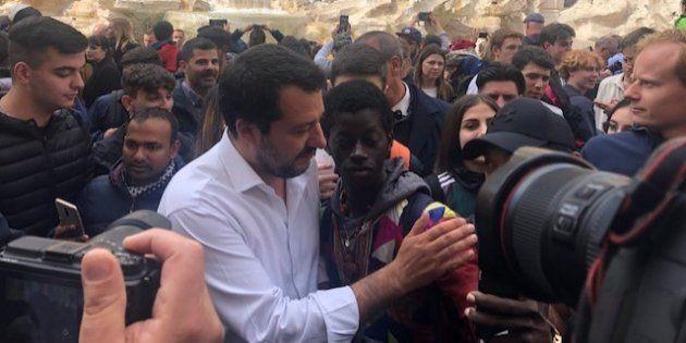 Matteo Salvini a Fontana di