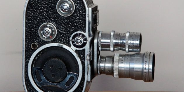 A Paillard-Bolex B8 8mm cine camera is seen at the Costa Rican Film Center in San Jose, Costa Rica, February...