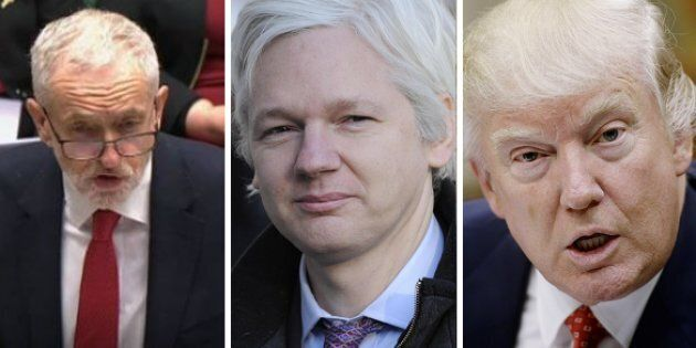 Jeremy Corbyn - Julian Assange - Donald