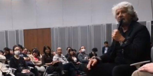 Grillo ospite alla Camera alta del Parlamento di Tokyo: