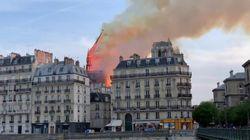 Il video del crollo della guglia di Notre Dame avvolta dalle