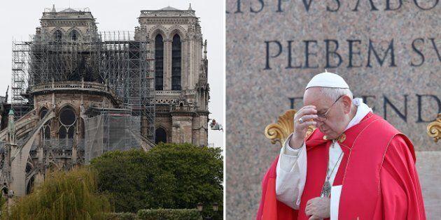 Il Papa prega per Notre