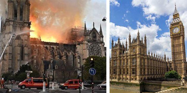 Dopo Notre Dame, i parlamentari inglesi temono per Westminster: