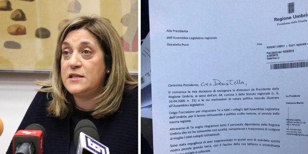 Scandalo sanità, la Presidente Pd dell'Umbria Catiuscia Marini si è