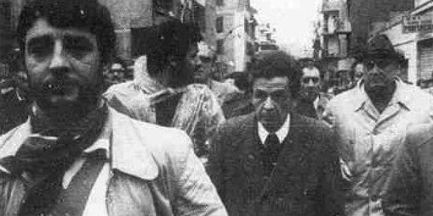 Enrico Berlinguer ai funerali di Ciro Principessa, Torpignattara, 24 aprile