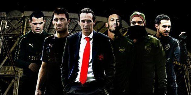 Immagine postata dall'Arsenal per festeggiare la vittoria contro il