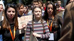 Greta ai giovani di Piazza del Popolo: